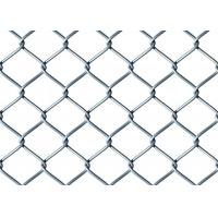 China Galvanized Chain Link Fence Mesh , Galvanized Mesh Fence with Barbed Edges on sale