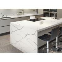Modern Style Man Made Quartz Kitchen Countertops And Island Eased Edge Manufactures