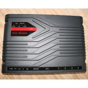 4 Ports Black Color Tablet Fixed Rfid Reader Super Long Detection Distance Manufactures
