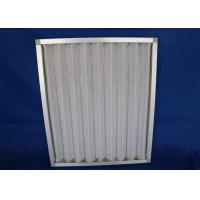Railway Station  Airport Washable Metal Air Filters , Rectangle Handling System  Furnace Air Filter Frame Manufactures