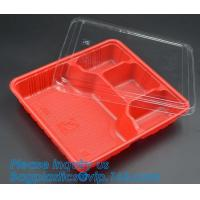 clear blister clamshell plastic raspberry containers,lunch box 4 compartment PP