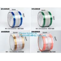 Easy Tearing Remove Masking Tape Seal Drinks And Bags,Easy TAPE OPP Tape food packaging tape coffee cup sealing label Manufactures