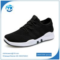 factory price cheap shoes 2019 New Design Lace-up Textile Fabric Men Sport Running Shoes Manufactures