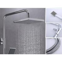 Home Square Bathtub Shower Faucet Sets 304 Stainless Steel Plated Thermostatic Mixing Valve Manufactures