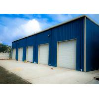 China Blue Light Steel Structure Building With Sandwich Panel / Prefab Metal Buildings on sale