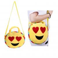 China plush emoji wallet, mini coin purse,custom emoji plush soft embroidered emoji wallet handbag for sale
