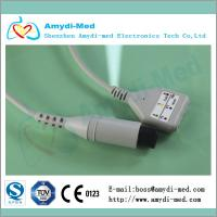 Din style 3 leads ECG Trunk cable,connector round 6 Pin Manufactures