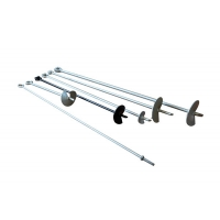 China 5/8×54 C1045 Galvanized Steel Helical Earth Anchors on sale