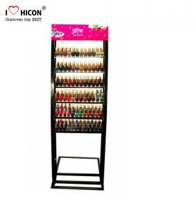 China Floorstand Metal Cosmetic Display Stand ,  Makeup Nail Polish Display Stand on sale