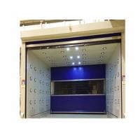 Blue Rolling Door Air Shower Tunnel With Powder Coated Steel Cabinet Manufactures