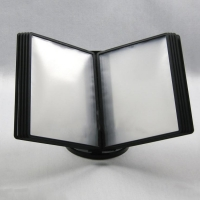 10 Pages Flip Table Top Display Racks / Multi-Angle Sliding A4 Poster Display Stands Manufactures