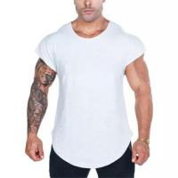 Muscle Fitness high quality soild color Cotton shirts Men sports T-shirt Manufactures