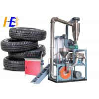 Truck Tyre Rubber Recycling Machine  , 75kw Polymer Plastic Scrap Grinder Manufactures