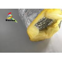 Quality Round 10 Inch HVAC Duct Insulation Wrap , Aluminum Foil Insulated Ventilation for sale