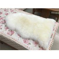 Real Sheepskin Rug Single Pelt Off White Color Supply Samples 90*60cm Eco-friendly Manufactures