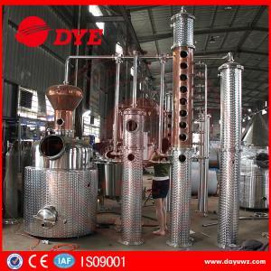 500L Copper Commercial Distilling Equipment for whiskey voska brandy Manufactures