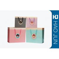 Color Printed Cardboard Shopping Bags , Fashional Paper Carry Bags Manufactures