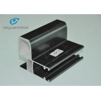 Black Finished Powder Coating Aluminium Extrusion Profile For Decoration Manufactures