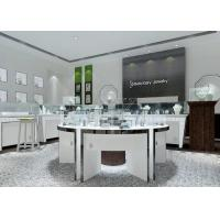 Modern White Color Round Circle Jewellery Display Counter / Retail Display Cases