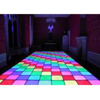 China SMD3538 sound active dj led disco dance floor , warm white beam led disco floor on sale