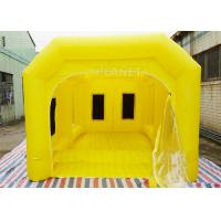 China 6 M Yellow Inflatable Spray Booth / Automotive Paint Booths Two Air System on sale