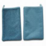 Microfiber Cut-pile Car Cleaning Gloves, Measures 24 x 18cm Manufactures