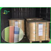Biodegradable Food Grade Printed Straw Paper Roll Stripe Color / Customized Color Manufactures