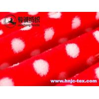 China Double sides printed small dots flannel fabric for blanket fabric and apparel on sale