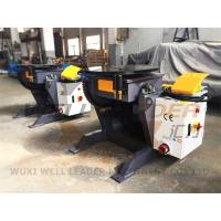 China 24 Inch Table Rotary Welding Positioner Manual Tilting Motorized Rotation on sale