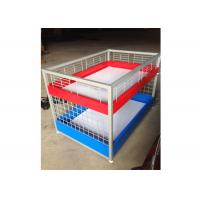 Commercial Two Layers Mobile Promotion Display Counter Four Feet For Supermarket Manufactures
