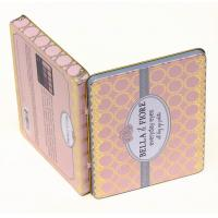 Quality Lovely Rectangular Tin Box containers Makeup Eye Shadow Palette for sale
