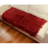 10 -15cm Wool Large Sheepskin Area Rug , Sheepskin Runner Rug For Home Sofa Seat Cover Manufactures