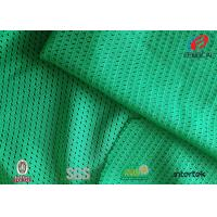 Lime Green Dull Sports Mesh Fabric 100 Polyester Moisture Wicking Fabric  5*1 Design Manufactures