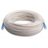 1 / 2 / 4 Core Flat Outdoor Fiber Optic FTTH Drop Cable Self Supporting Fig 8 Bow Type Manufactures