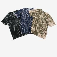 China Stock wholesale high street tie dye shorts sleeves t shirts for men on sale