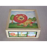 Wholesale Best Animal Jigsaw Puzzle Rubber Childrens Wooden Building Blocks for Toddler Manufactures