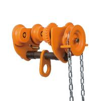 China 10 ton Chain Fall Trolley Hand Plain Trolley With Chain for Hoist travelling on sale