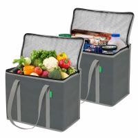 Custom Printed Insulated Cooler Tote Bags With Long Handles And Zipper Top Manufactures
