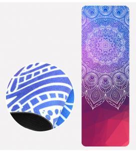 China Ultra Thin Microfiber PrintingNatural Rubber Yoga Mat 1.5mm,foldable Mat on sale