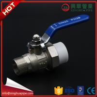 1 Inch Plumbing Material Male Ball Valve Wear Resistant Circle Head Code With Union Manufactures