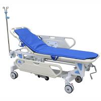 China Galvanized Steel Patient Transfer Trolley With Manual Crank 630 - 930mm Height Adjustment on sale