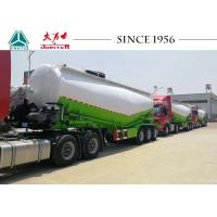 3 Axles Bulk Cement Tanker Trailer 60000 Kgs Max Payload With Polyurethane Painting Manufactures