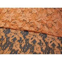Orange Cotton Nylon Lace Mesh Fabric AZO Dyeing For Ladies Garment SYD-0001 Manufactures