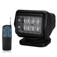 4000 Lumens Waterproof LED Search Light Rotating Remote Control 12v / 24v Manufactures