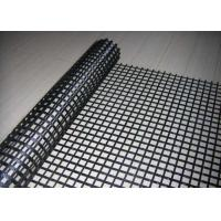 Bitumen Coated Pavement Reinforcing Geogrid Fabric , Asphalt Reinforcement Geogrid Manufactures