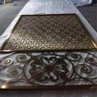 Mordern design carved laser cut decorative aluminum screen with color Manufactures