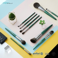 China Green ISO9001 10piece Cosmetic Makeup Brush Set on sale