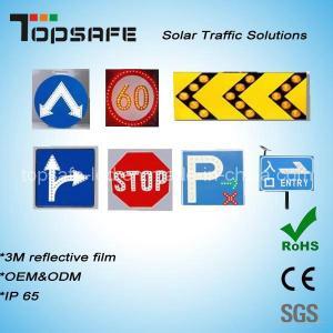 Aluminum Flashing Solar LED Traffic Warning Sign LED Display Manufactures