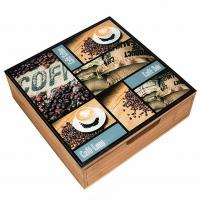 Easy Cleaning Wooden Tea Bag Chest Drawer Countertop Storage For Restaurant Manufactures
