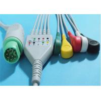 Siemens Drager 5 Lead ECG Patient Cable For Patient Monitor 10 Pin Connector Manufactures